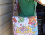 Popples  Medium Size Messenger Bag    Vintage 80s TCFC   Pretty Cool   Puffball