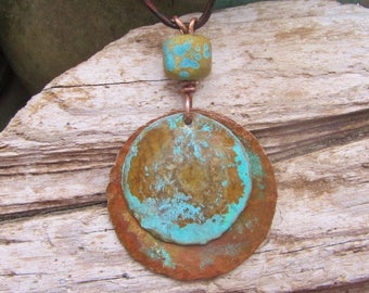 Handmade Copper Jewelry and Lampwork Bead - Rivers and Red Dirt Roads
