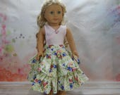 18 inch doll clothes made to fit dolls such as American Girl®  Two Piece Top and Skirt, 04-1989