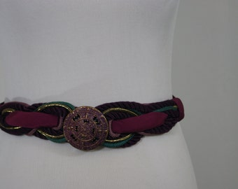 Purple Medallion Statement Belt .. MArdi Gras Perfection S/M
