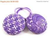 Purple Ponytail Holders, Tween Hair Accessories, Stocking Stuffer, Cute Pony Tail Holders, Set of 2, Small Gifts for Girls, Friend Gifts