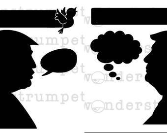 Tweetering Trumps Stencil Set