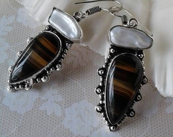 Vintage Agate Earrings