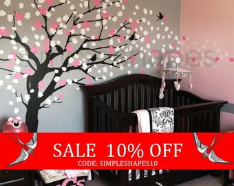 Sale - Wall Decals - Cherry Blossom Tree - Elegant Style - LARGE Wall Decal