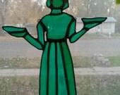 Savannah Bird Girl Bonaventure Cemetery Stained Glass Suncatcher
