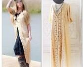 Xl gypsy soul duster, Hippie dress, bohemian duster kimono, Stevie Nicks style boho vest, hippie kimono, beige kimono true rebel clothing