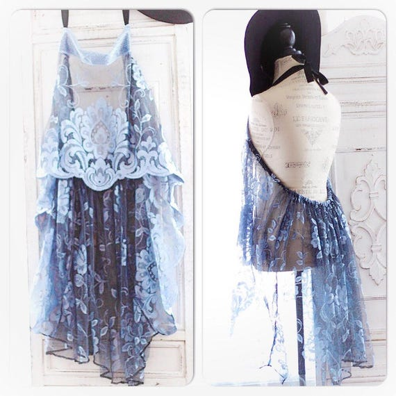 Os Boho Beach Blue Highlow Halter Tunic, Spell N Gypsy Bohemian Tunic, Gypsy Soul Romantic Lace Tunic, Hippie Chic Top, True Rebel Clothing