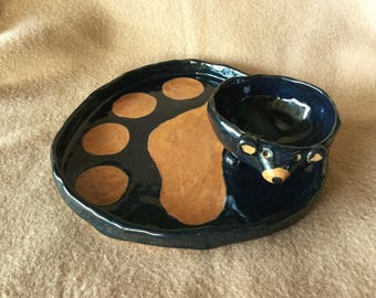 Black Bear Bowls & Platter