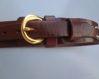 Vintage Leather Boys Belt