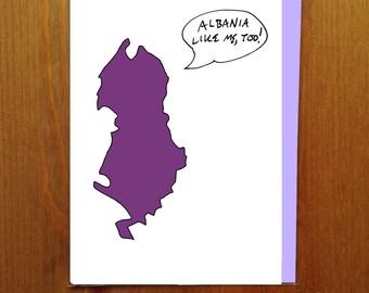 Albania Like Me, Too! Greeting Card