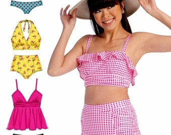 Swimsuit Pattern, Two Piece Swimsuit Pattern, McCall's Sewing Pattern 7168