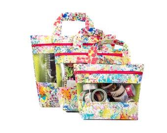 Stephanie Peekaboo Bag - Paintbrush - peek-a-boo, vinyl