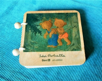 Wooden Childrens Bear Book, Ida Bohatta, Sevi, ars edition
