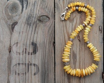 Baltic Amber Necklace / Natural Yellow Amber / Milky Amber / Natural Fashion / Oriental Style