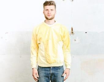 Mens 80s Jacket . Vintage 1980s Festival Jacket Sweatshirt Jacket Insulated Outerwear Coat Boyfriend Jacket . size Medium
