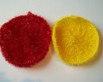 Crocheted Scrubbies     Hand Crocheted Sparkle Kitchen Scrubbies