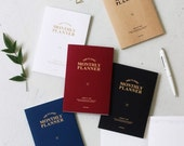2017 -Monthly planner in 5 colors  -Large size