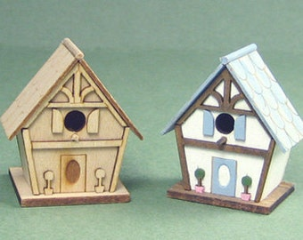 Cottage Birdhouse Kit - 1/12 Scale For Your Dollhouse