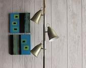 mid century lighting - Mid Century Modern -Fancy Gold Pole Lamp - home - office - studio