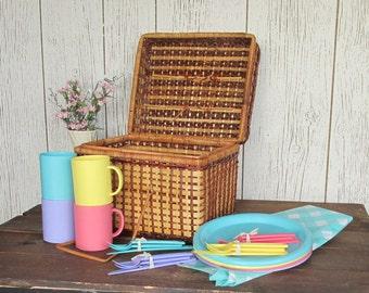Vintage Picnic Basket - Fun in The Sun