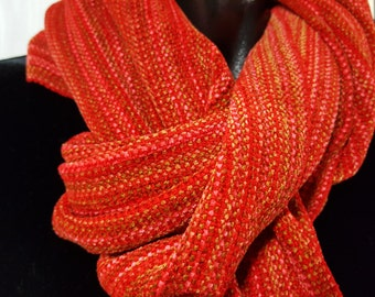 Handwoven chenille scarf
