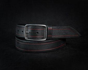 Black Belt, Fashion Leather, Handmade Leather, Fashion Belts, Leather Belt, Black Belt,Black Men's Belt, Genuine Leather, Unique Design