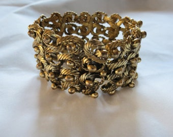 VTG Coiled French High End Designer Gold Plated Bracelet