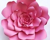 ON SALE Paper flower tutorial, paper flower backdrop, Paper flower template, DIY paper flower pattern, large paper flower template, wedding