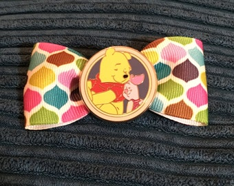 Winnie the Pooh and Piget hair bow