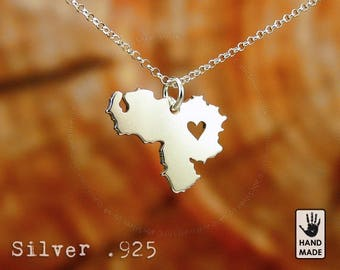 Venezuela Handmade Personalized Sterling Silver .925 Necklace in a gift box