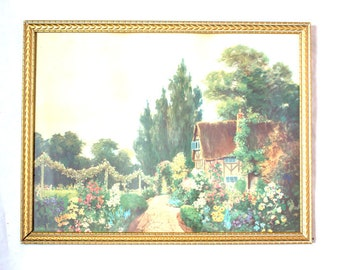 Bowered in the Bloom of Spring Framed Cottage Print