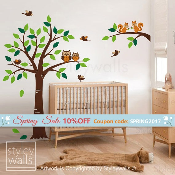 10% OFF Coupon On Forest Animals Tree Wall Decal Woodland Wall Decal, Squirrels Owl And Birds Animals Wall Decal Nursery Decal Baby Room Kids Children By Styleywalls - Etsy Coupon Codes