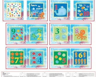 Count With Me Counting Soft Book Panel by Studio e- 35 x 44""