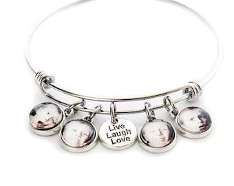 Personalized Photo Charm Bracelet / Custom Photo Jewelry / Picture Charm Bracelet / Picture Jewelry / Gift for Mom / Grandmother / Grandma