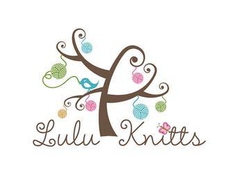 Premade Logo, Knitting Logo, Wool Logo, Bird Logo, Tree Logo, Logo Design, Business Logo, Logo, Watermark Logo, Crochet Logo, Knitting, .