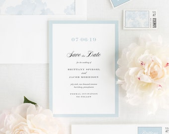 Upscale Monogram Save the Date - Deposit