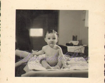 What Are You Looking At Darling Baby Poses Antique Vintage Photograph