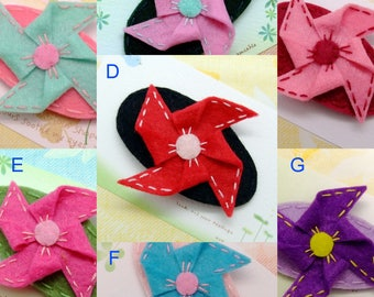 Handmade felt snap hair clip (FC- Group 17)