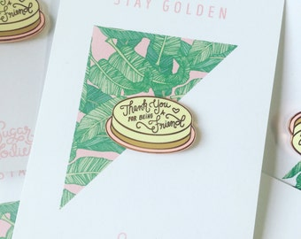 Thank You For Being A Friend, Golden Girls Cheesecake Enamel Pins/ Lapel Pins