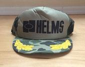 Vintage camoflauge mesh snapback trucker hat