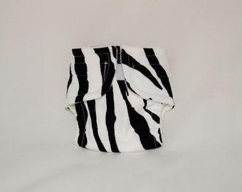 Doll Diaper - Zebra - Size Large