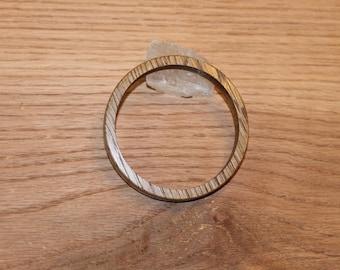 Handmade White Oak Wood Bangle Bracelet, Wood Jewelry, Cuff Bracelet, Wood Bangle Bracelets, Made in Mississippi, E209