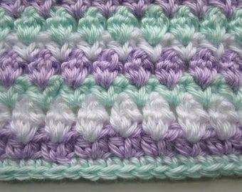 Bobble and V Stripe Blanket Pattern, Easy Crochet Afghan Pattern, Bobble Stripe, Crochet Baby Blanket Pattern, Instructions to Make ANY size