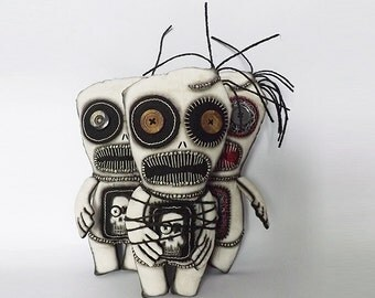 Voodoo Doll Zombie Doll Art Doll Horror Day of the Dead Doll