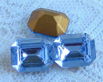 10x8 Swarovski Light Sapphire Blue Octagon Crystal Rhinestones
