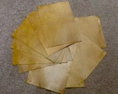 RD248D.  Package of 15 Tobacco Leather Cowhide Swatches