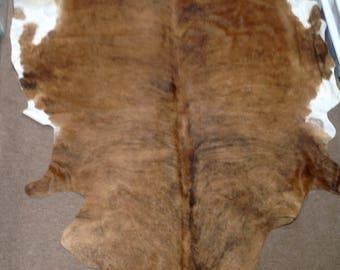SSAR20.  Brindle Hair on Cowhide Rug