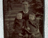 Tintype Proud Mother of Twins