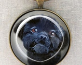 Black Shih Tzu Keychain ~ Original Art ~ March Birthday ~ Gifts for Him ~ Dog Painting