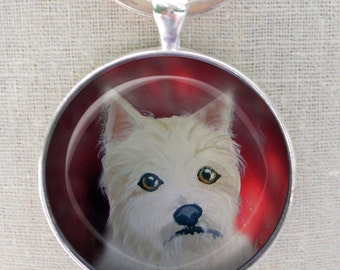 Westie Keychain ~ Dog Keychain ~ West Highland Terrier ~ Westie Gift ~ December Birthday
